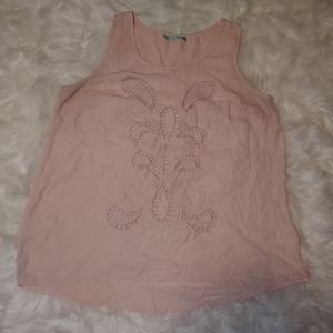 Maurices Pink Cut Out Tank Top, Size Large